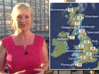 BBC weather forecast: Carol Kirkwood predicts rain across south-west England | TV & Radio | Showbiz & TV