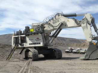 MacKellar Mining excavator entrance with Liebherr pays off