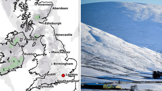 UK weather forecast: SNOWFALL to hit Britain in BITING cold snap after fog strikes