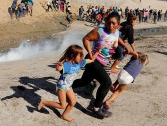 Trump says U.S. did not tear gas children at border, despite images showing it - National