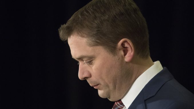 Scheer says he didn't hear pizzagate reference at Ontario town hall