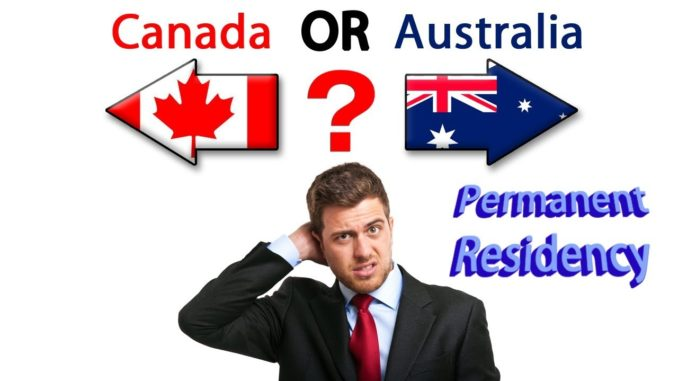 Canadian or Australian PR?