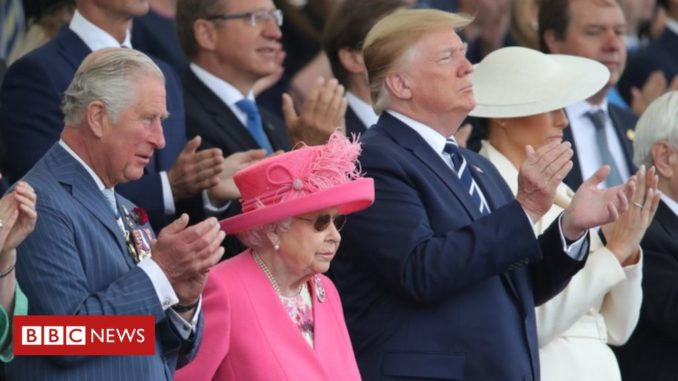 Donald Trump joins Queen for 75th D-Day anniversary