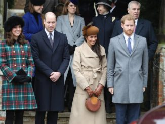 "<p><a href=""https://www.popsugar.com/celebrity/Prince-Harry-Meghan-Markle-Attend-Christmas-Service-44448539"" >The first time we saw Harry, Meghan, Kate, and William together</a> was on Christmas day back in 2017. </p>"