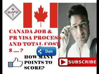 CANADA JOB  & PR VISA PROCESS AND TOTAL COST $ - HINDI