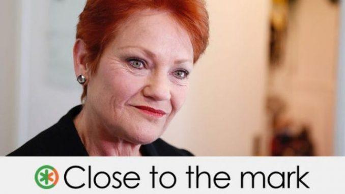 Pauline Hanson immigration fact check feature image