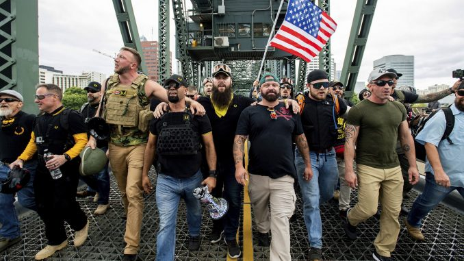 Portland protests: Far-right, counter-rallies held - Axios