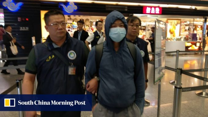 Taiwan deports second mainlander for defacing Hong Kong protests Lennon Wall - South China Morning Post