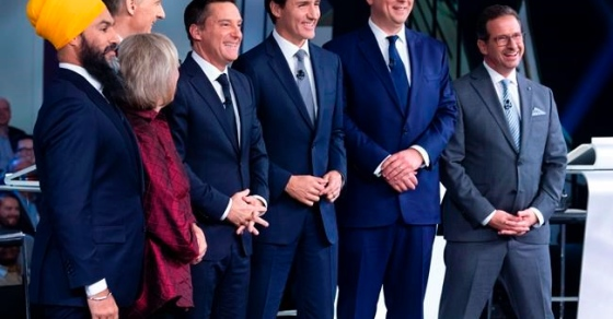 The Latest: Six leaders square off in French-language debate in capital region
