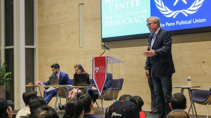 Jeb Bush tackles immigration in a public debate with three Penn students Tuesday