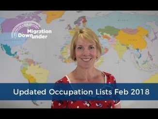 Updated Skilled Occupation Lists 2018