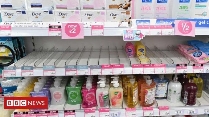 Coronavirus: Hand sanitiser rationed at chemists as sales surge