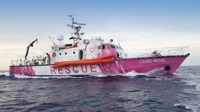 Will Banksy's migrant rescue boat gesture be able to push the British government into social action?