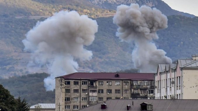 Azerbaijani missiles hit Karabakh capital ahead of cease-fire - Arab News