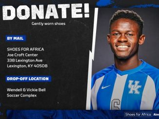 UK Soccer's Mabika Gives Back with Shoes for Africa