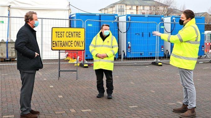 Scottish Secretary thanks Covid testing staff in Dumfries